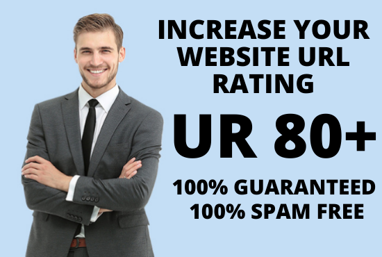 I will increase your website Ahrefs URL Rating UR 80+ Guaranteed
