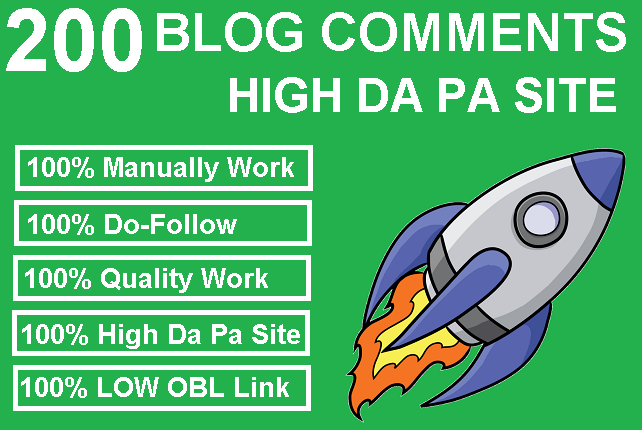 200 Do Follow Blog Comments High Authority Site