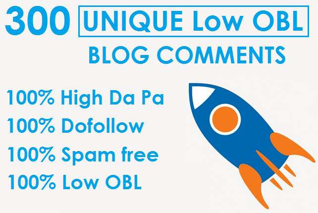 I will Do 300 Unique Low Obl Blog Comments Dofollow Backlinks