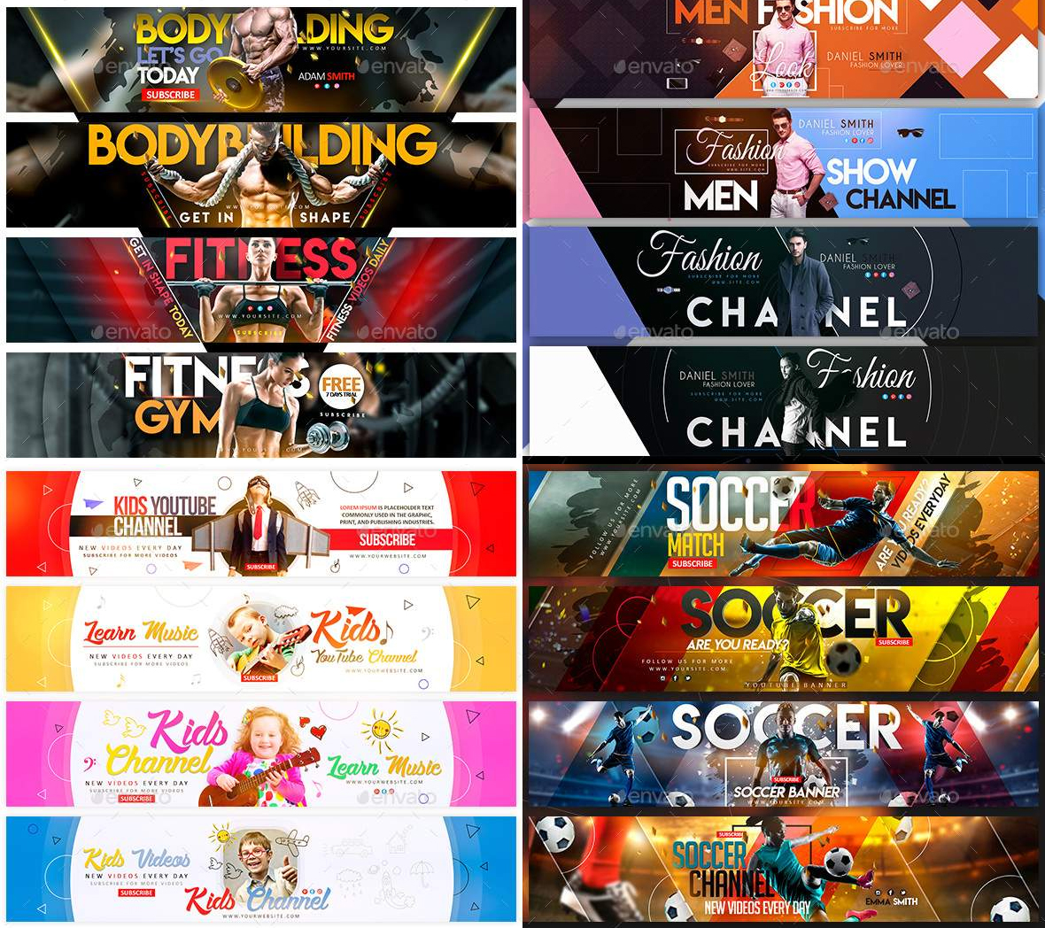 Design a Perfect and Professional Banner/Cover Youtube-Facebook