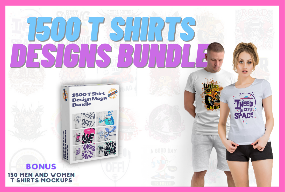 1500 T Shirt Designs Mega Bundle