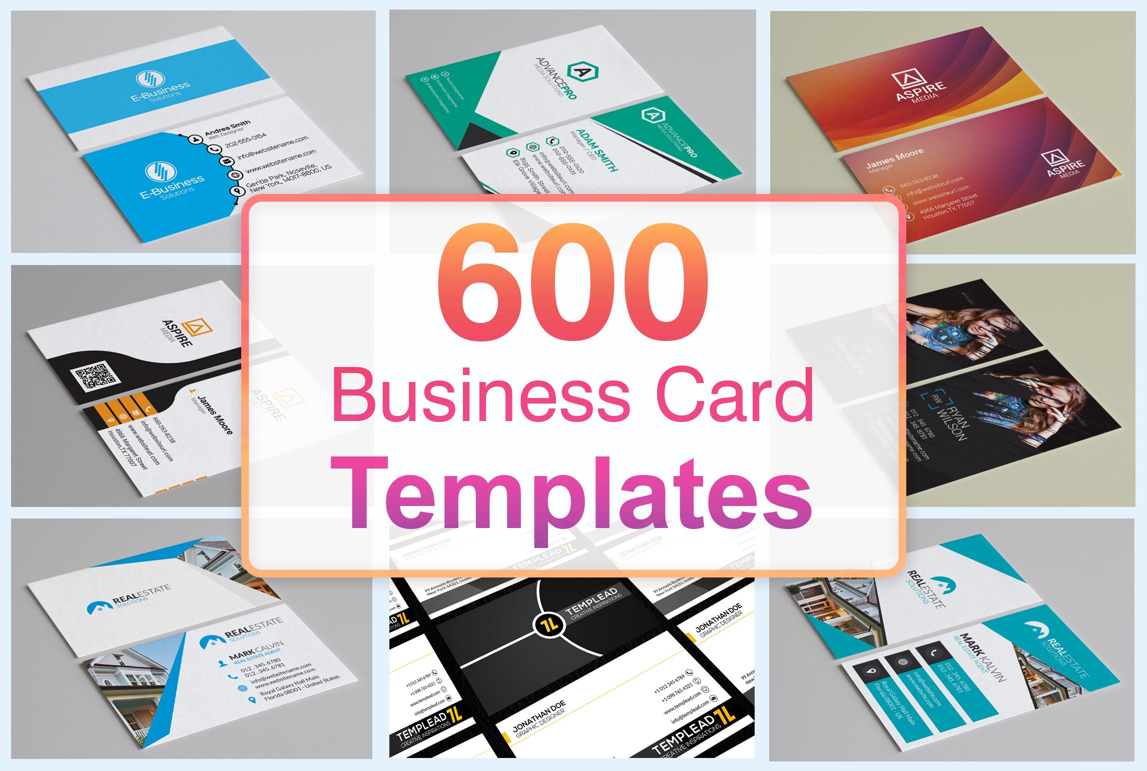 600 Business Card Templates PSD