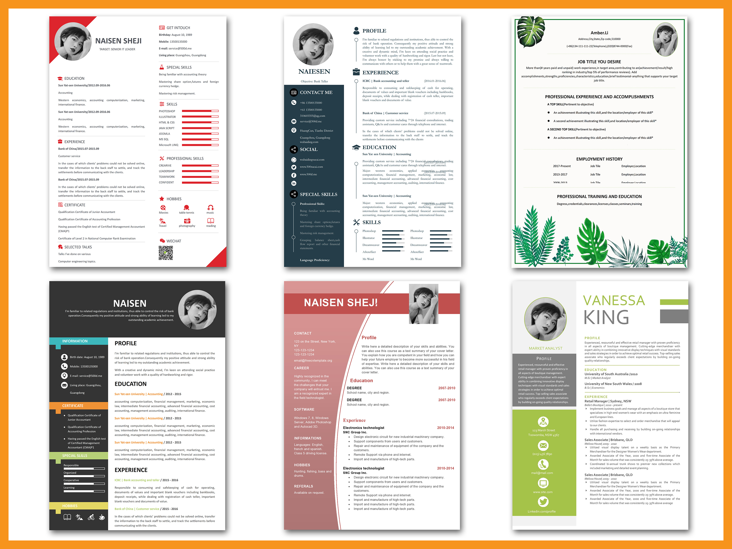 170 Resume Templates Bundle With 50 Covers