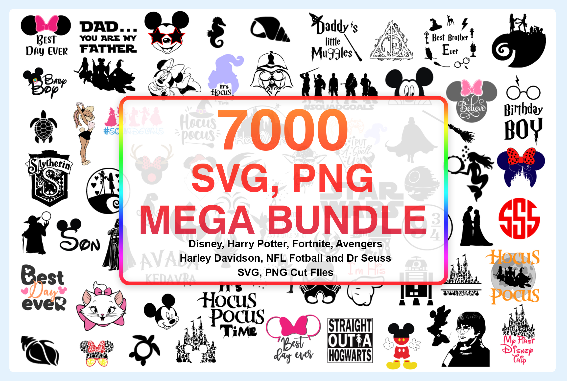 7000 SVG PNG Cutfile Mega Bundle
