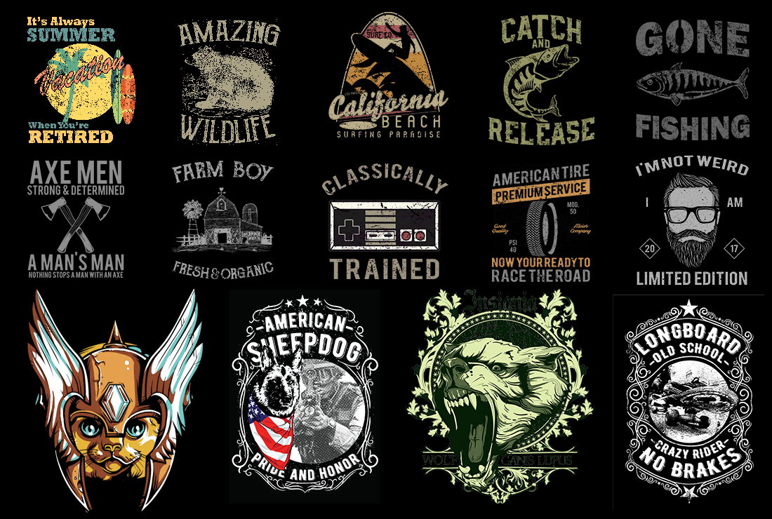 1500 T Shirt Designs Mega Bundle