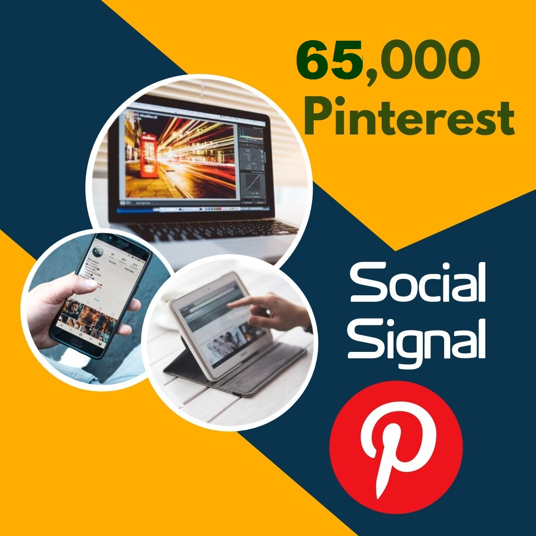 Fast deliver 65,000 pinterest social signal to your blog website and share marketing