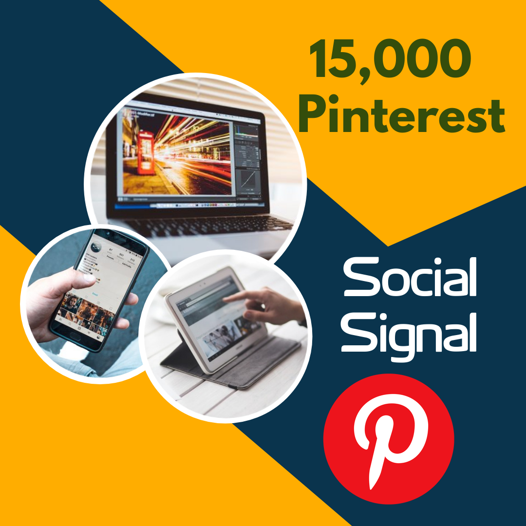 Fast deliver 15,000 pinterest social signal to your blog website and share marketing