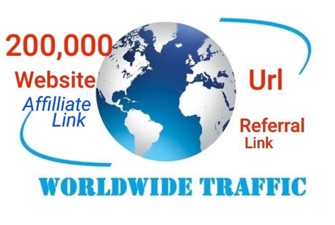 SKYROCKET 200,000 Traffic Worldwide Website Real Promotion From TOP Social Media for