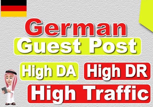 i will make publish 1 german guest posts on high da german site