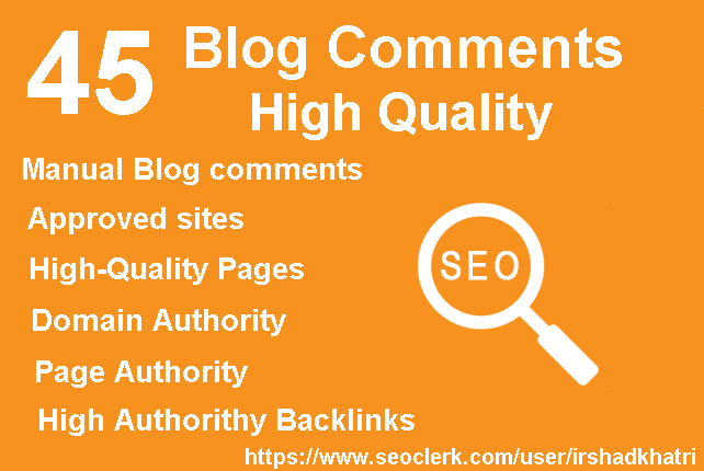 45 high quality blog commens manual dofollow backlinks