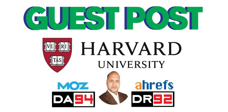 Edu Guest Post On Harvard University Blog - DA94,  DR92 - DoFollow Link