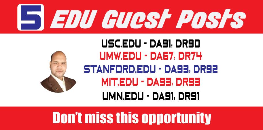 TOP 5 DA90 EDU Guest Posts on USA TOP Universities