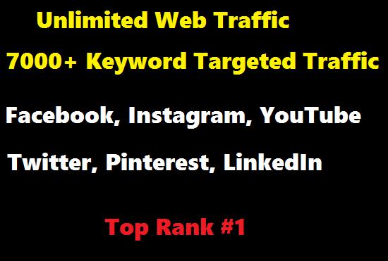7000+ Keyword Targeted Website Traffic to Boost Ranking