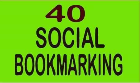 I Will Provide 40 Social Bookmarking Backlinks
