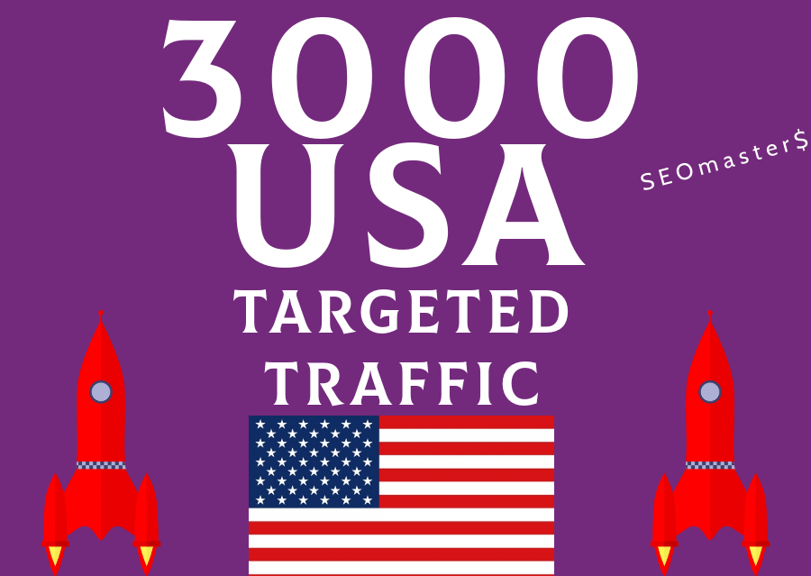 3000 USA Targeted traffic to your web or blog site. - Get Adsense safe with Good Alexa ranking