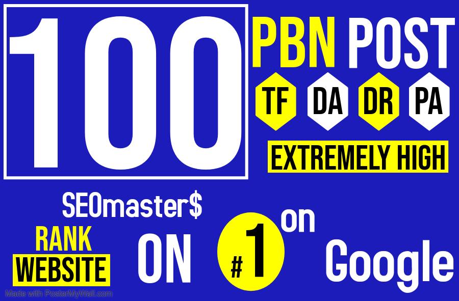 SEO services - 100 PBN Homepage and Permanent Posts for Ranking Towards Google Page 1