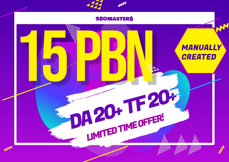 15 PBN Manually Created Parmanent backlinks for all website Ranking