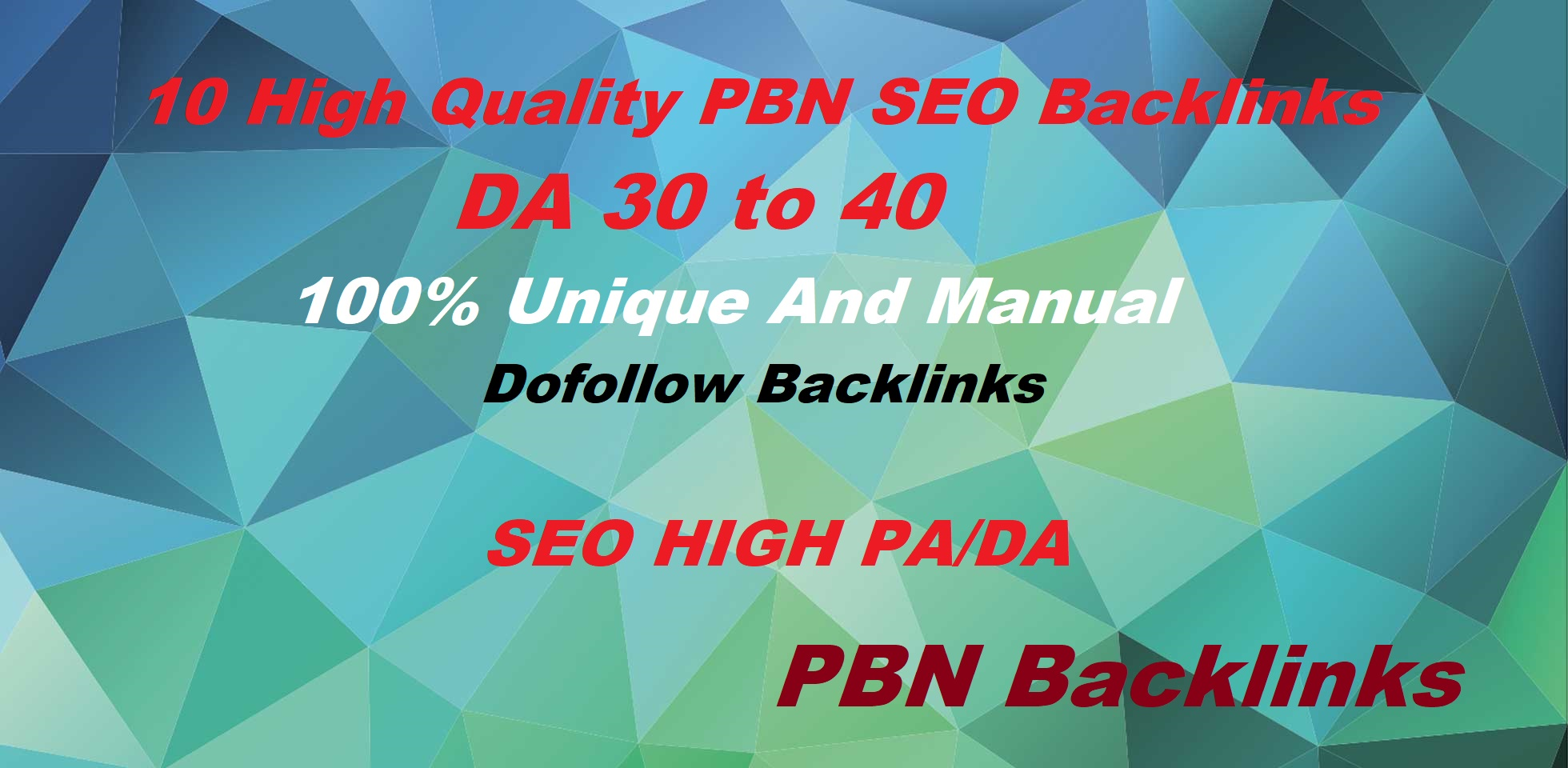 Build 10 High DA 30 To 50+ PBN Homepage High Quality Backlinks