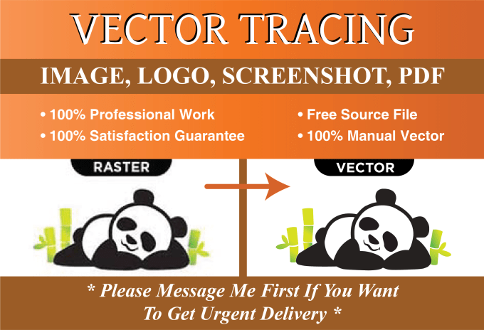 I will convert logo to vector file