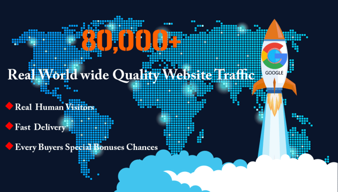 80,000 boost website keyword real organic targeted web traffic facebook,  instagram,  youtube,  twitter