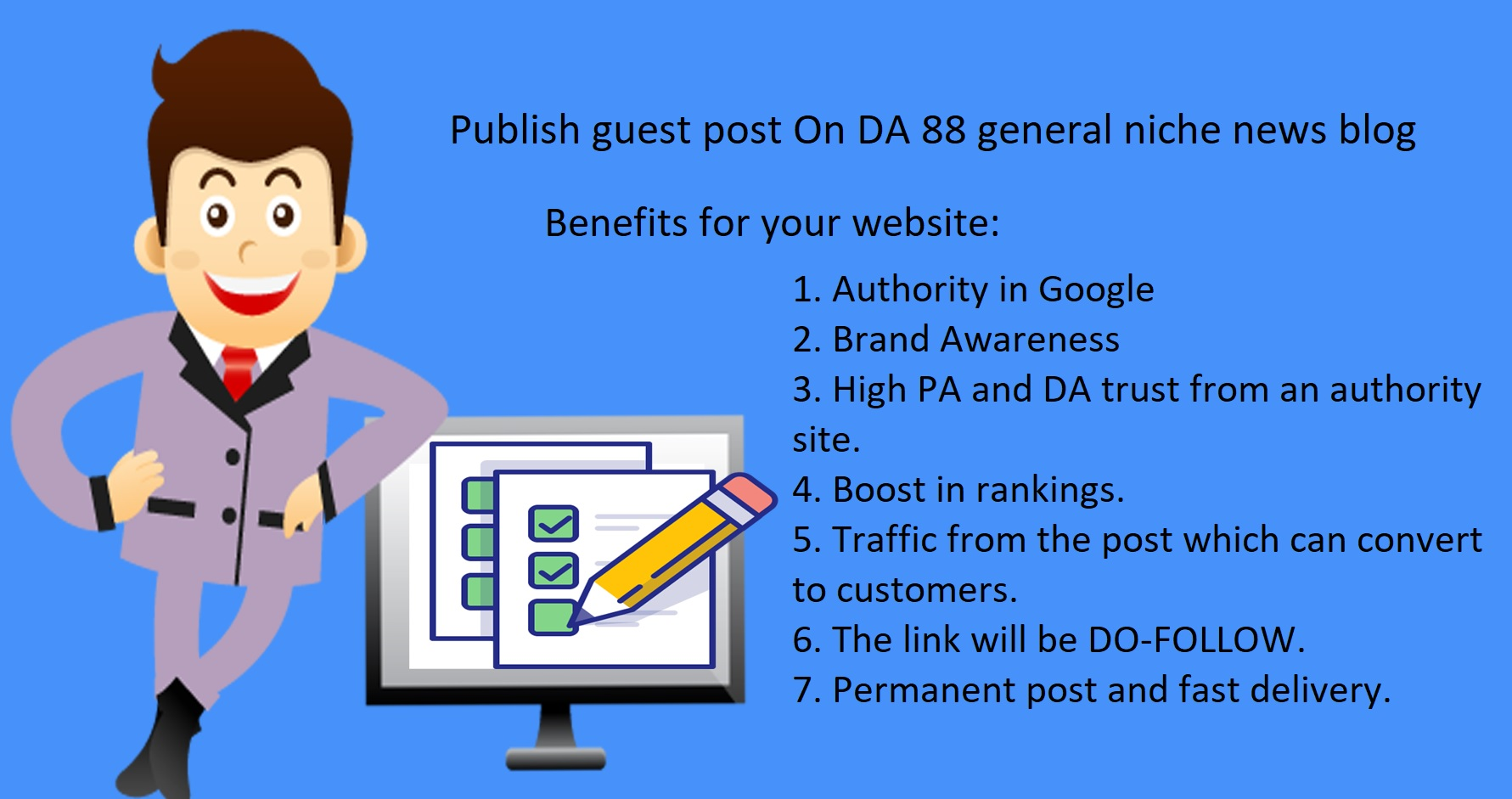 I Will Publish guest post On DA 88 general niche news blog