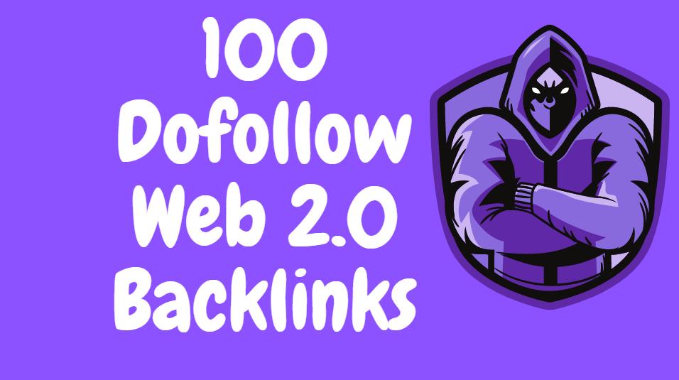 I will do 100 contextual dofollow web 2.0 blogs SEO backlinks service