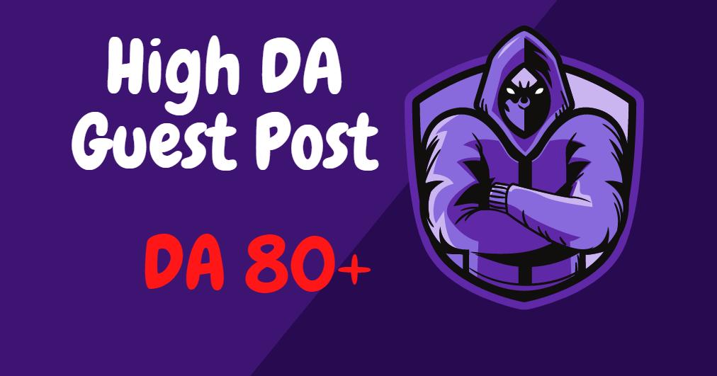 I will provide 5 guest post backlinks DA 80+ For google rank fast