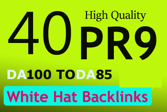 Create unique 40 pr10 pr9 high authority backlinks for 5