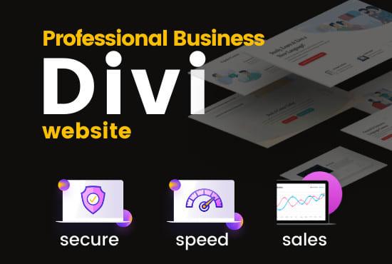 I will make professional responsive divi wordpress website