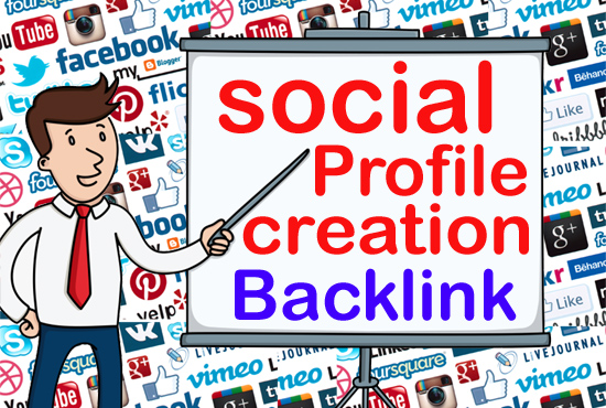 I will do Manually build 60 social media profiles creation powerful seo backlinks