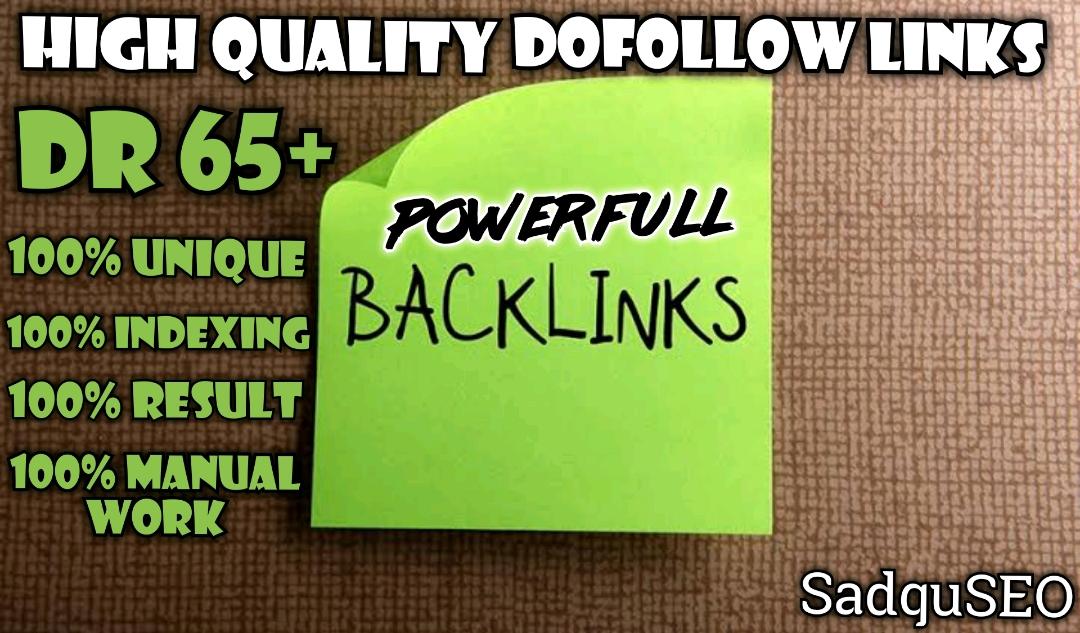Get 100 DR 50+ homepage permanent PBN Backlinks