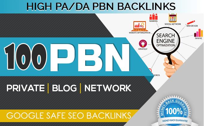 Provide you 100 DA 30-40 permanent Dofollow PBN Backlinks