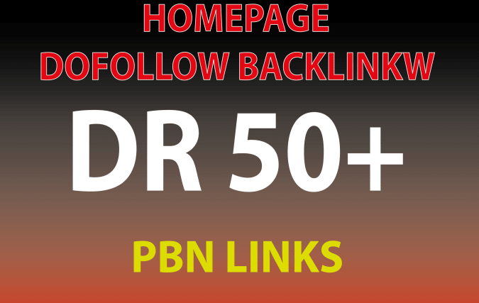 Get 3 DR 50+ homepage permanent PBN Backlinks