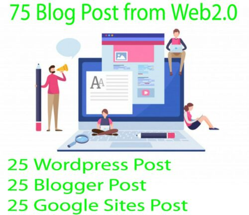 75 Blog Post From Wordpress,  Blogger & Google Sites