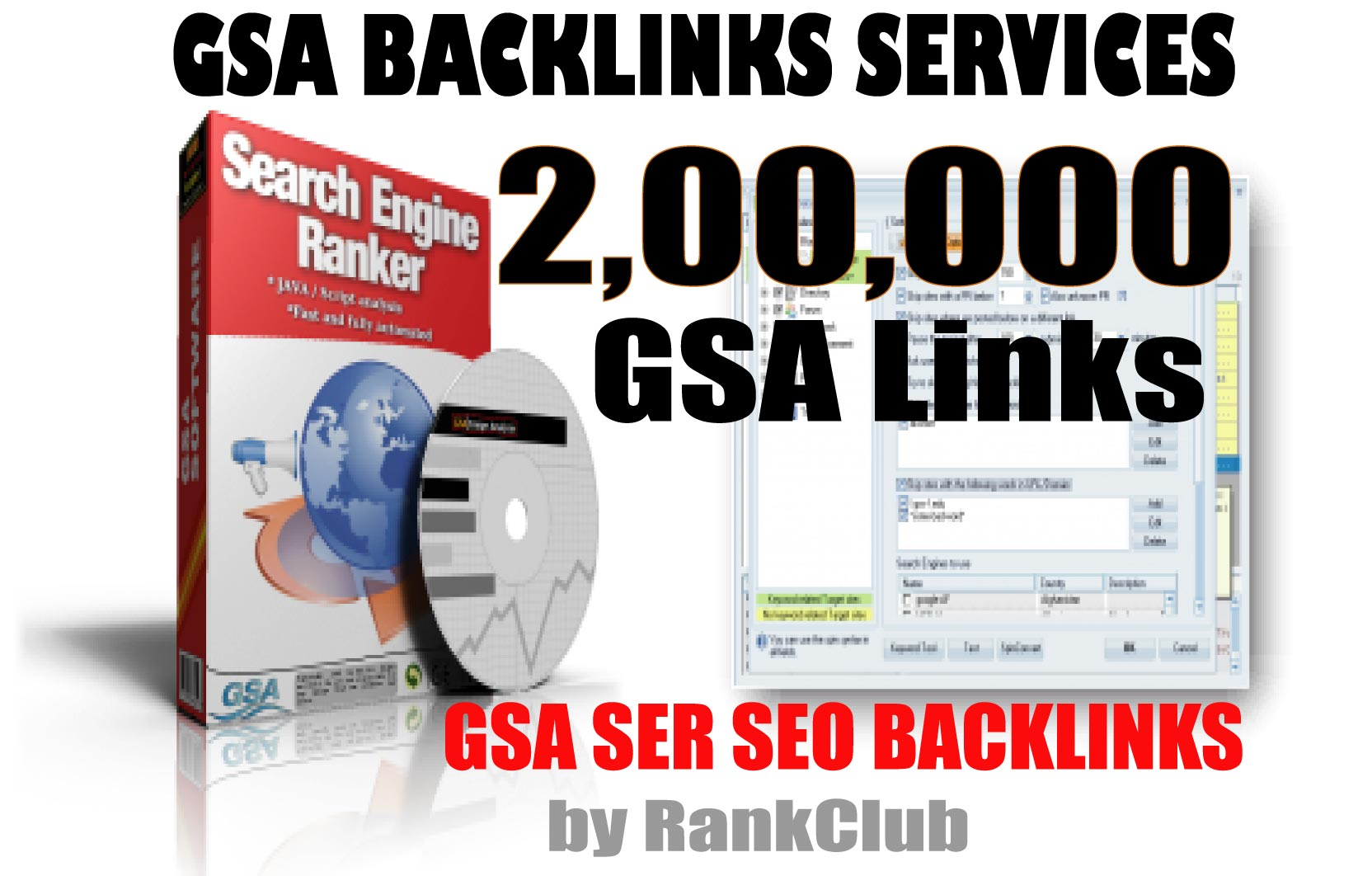 200000 200K GSA SER Unique Backlinks Multi-level Tier for Fast Ranking