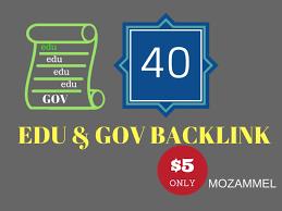 Add provide you 40 edu gov backlink
