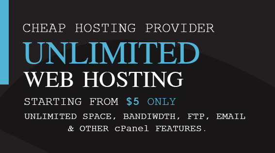 Unlimited Web Hosting,  Web hosting with unlimited features. Unlimited cPanel account.