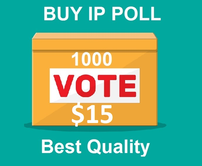 Promote you 1000 Different ip votes on your contest polls