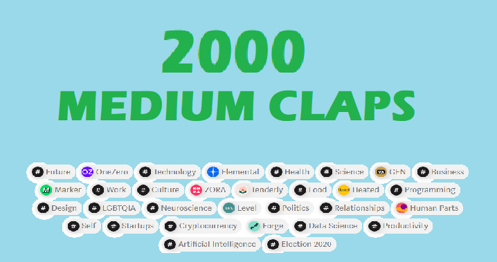 2000 medium article claps to make viral