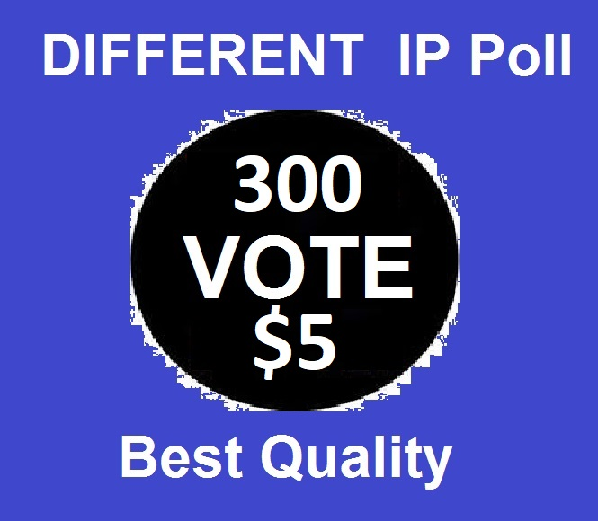 Promote 300 Different ip votes on your contest poll