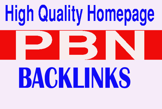 Create 40 Permanent PBN Dofollow Homepage Backlinks