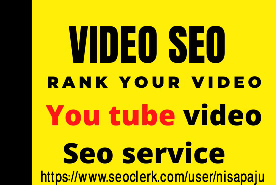 Create 30+ plus high quality backlinks to your youtube video for SEO rankings