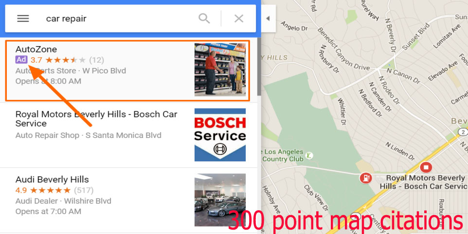 create 300 google point map citations for your local business