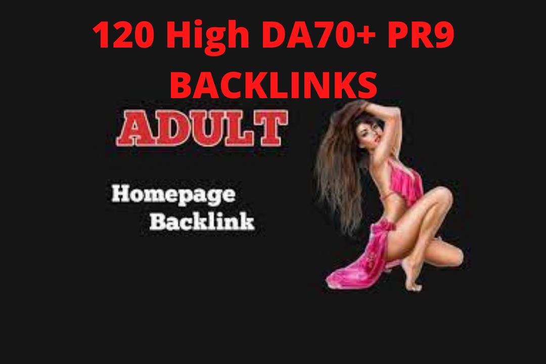 Latest 100 PR-9 Adult,  Escort or Casino,  poker,  Bet online for DA-70+ High Quality Google Backlinks