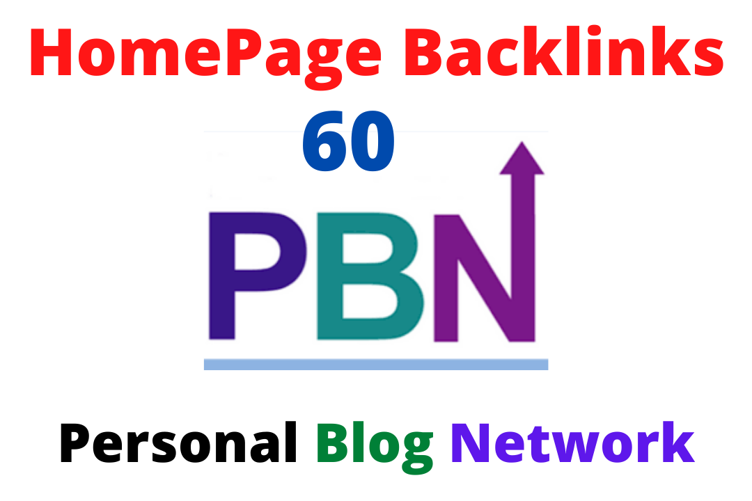 Manually 60 DA 70+ Homepage PBN Backlinks PR-9 To Skyrocket you SERP