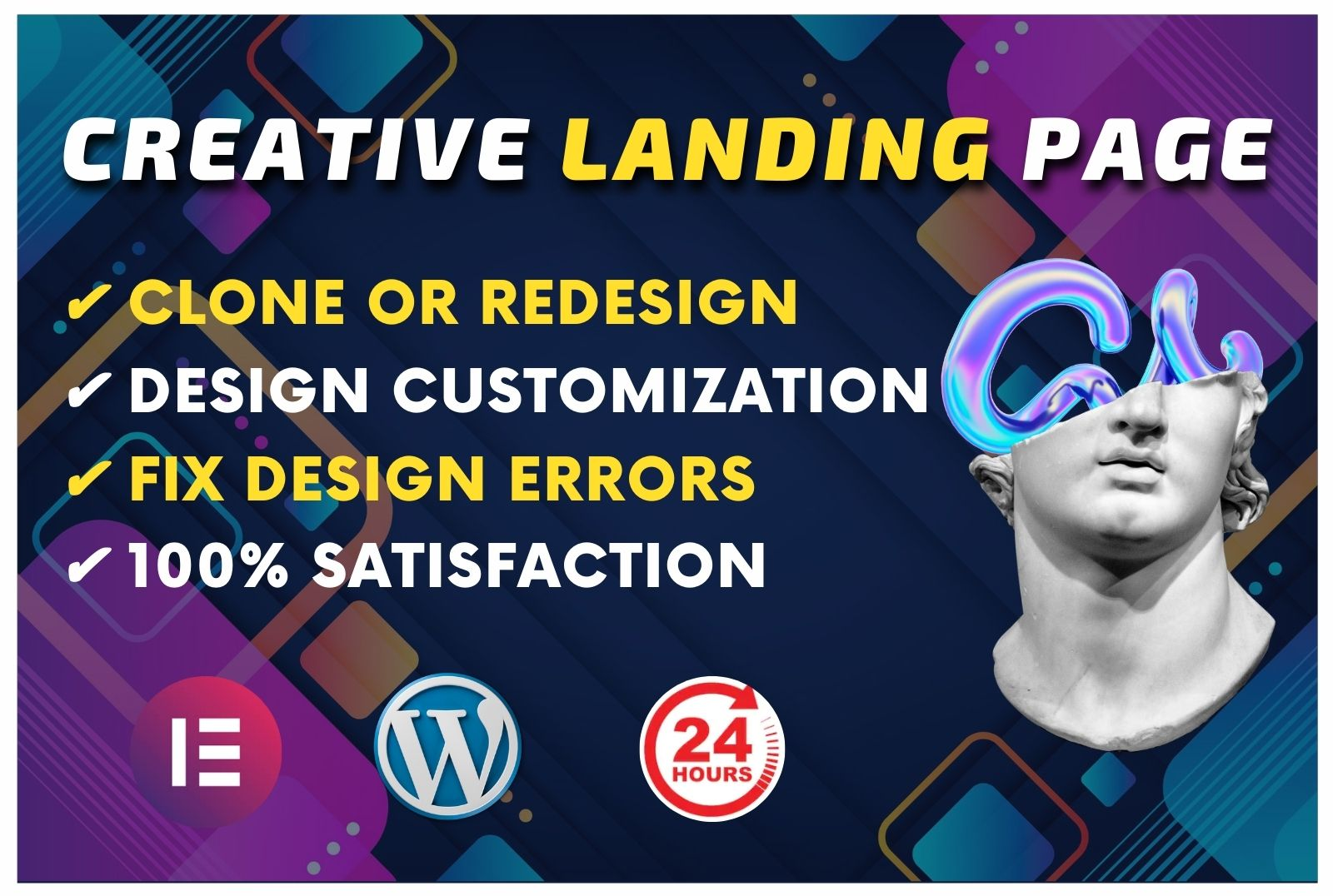 Design Professional WordPress Website or Design Elementor Landing page