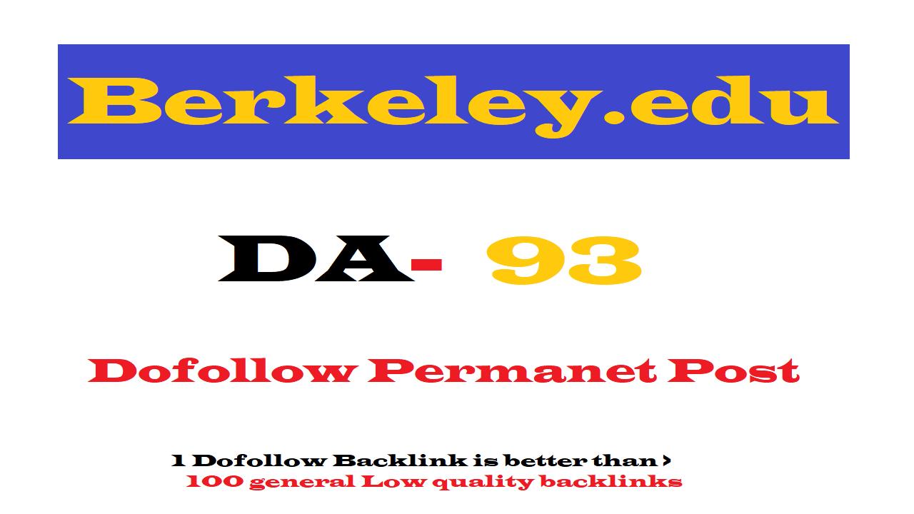 Guest Post on Berkeley. edu DA93