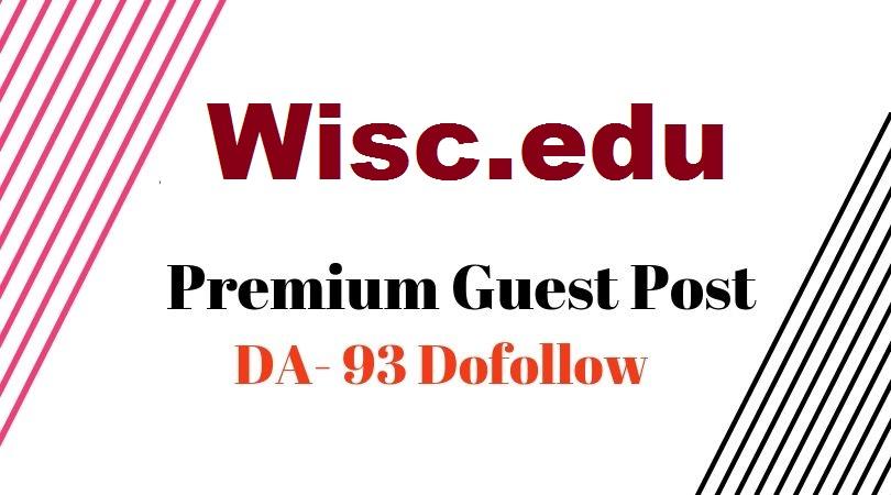 Premium USA EDU Guest Post On Wisc. edu DA93