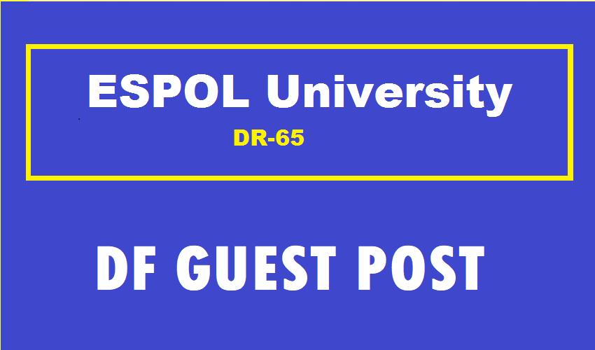 Guest Post On Spanish ESPOL University DR65