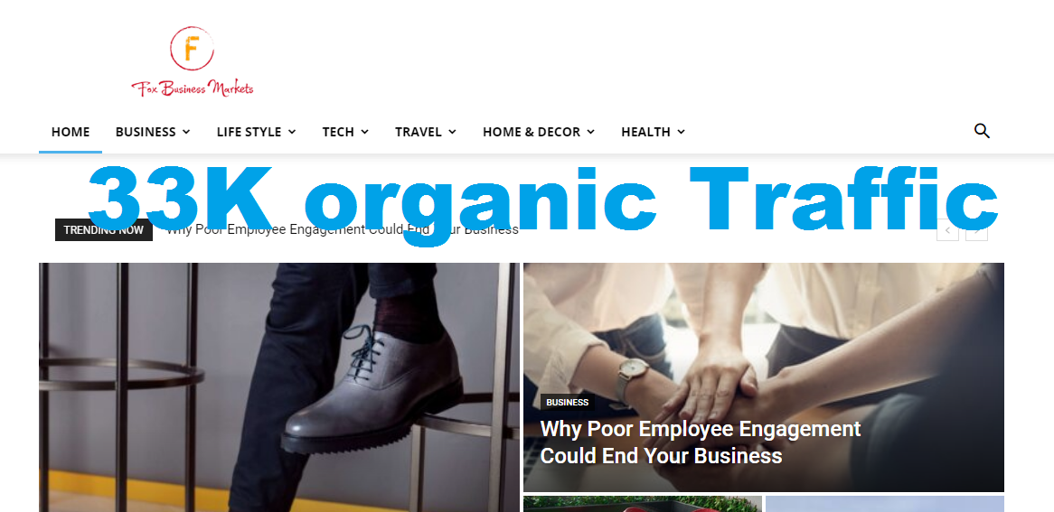 Guest Post On Foxbusinessmarkets. com 33K Organic Visitors DA37